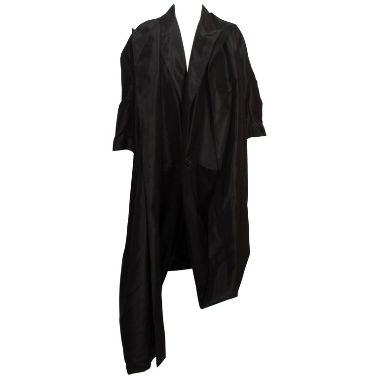 Yohji Yamamoto Double Layered Asymmetrical Black Coat