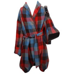 Marc Jacobs Checked Wrap Coat & Matching Bag