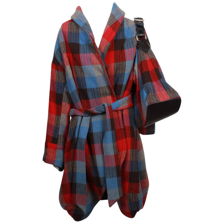 marc jacobs checked wrap coat and matching bag for sale at 1stdibs