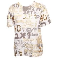 Comme Des Garcons Foil Transfer Printed T-shirt