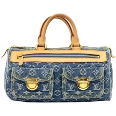 Louis Vuitton Neo Speedy Blue Monogram Denim Handbag