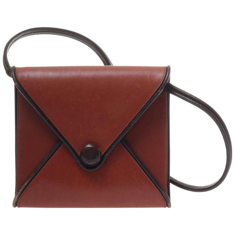 Hermes Envelope Clutch Bag, 1970s