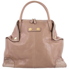Alexander McQueen De Manta Tote Studded Leather Large
