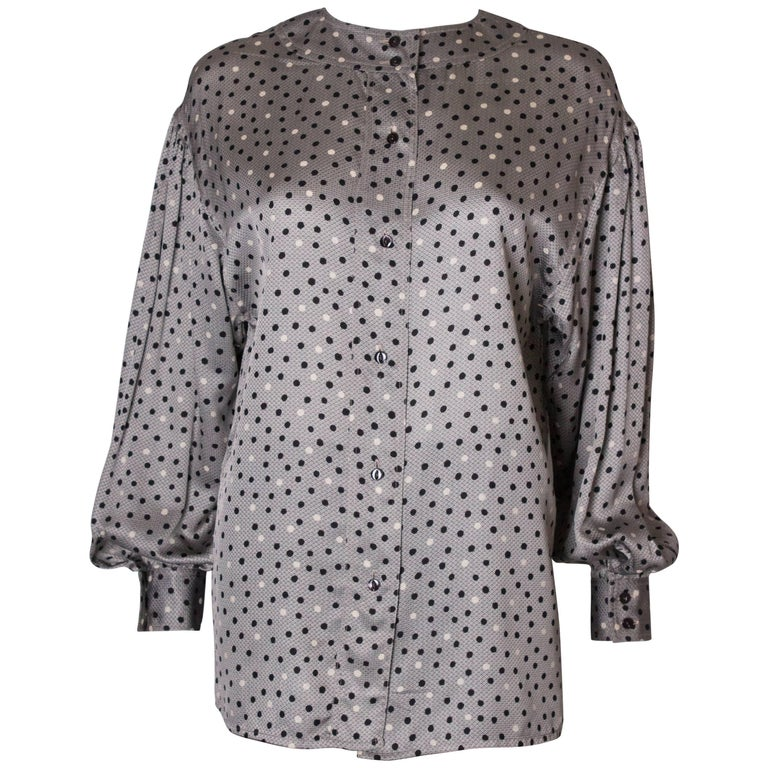 Vintage Ferragamo Silk Blouse