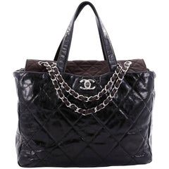 Chanel Portobello Tote Quilted Glazed Calfskin Medium