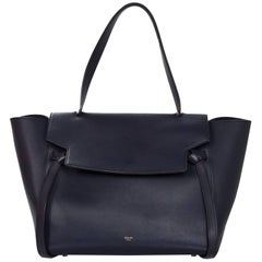 Celine Navy Smooth Leather Small Belt Bag
