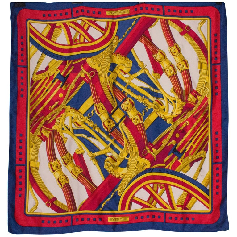 Vintage Hermes Scarf, Rythmes For Sale