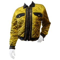 1990s Moschino Quilted Chain Bomber