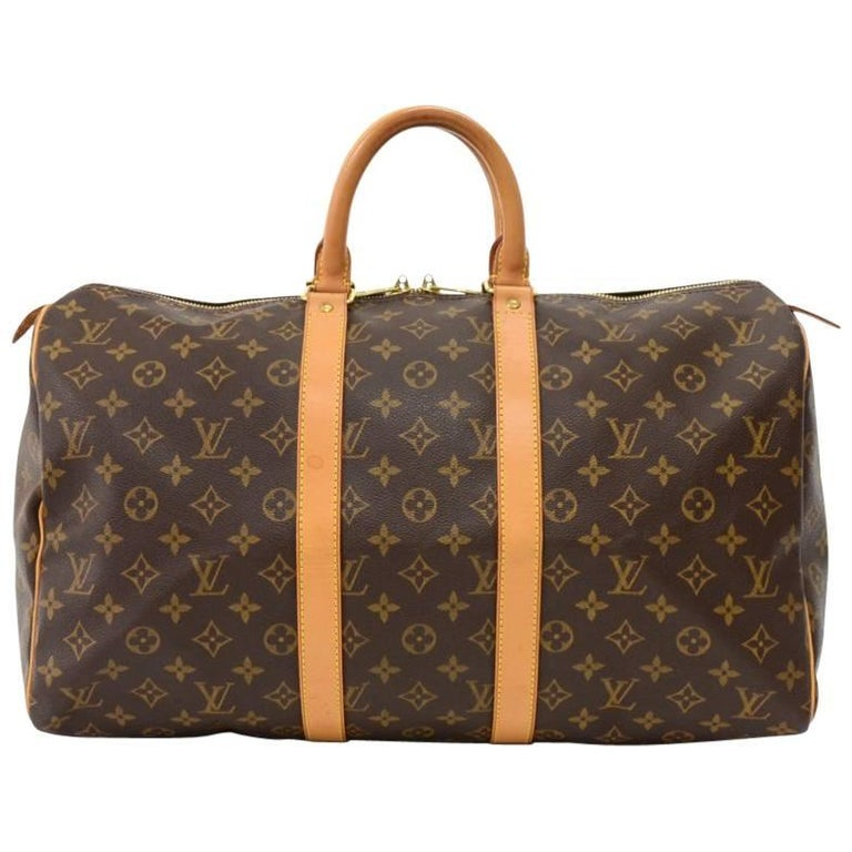 Louis Vuitton Keepall 45 Monogram Canvas Duffle Travel Bag  1