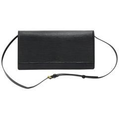 Louis Vuitton Honfleur Black Epi Leather Shoulder Clutch Wallet