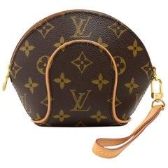 Louis Vuitton Mini Ellipse Monogram Canvas Wristlet Clutch Bag