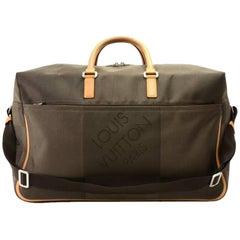 Louis Vuitton Sable Souverain Dark Brown Damier Geant Canvas Boston Bag