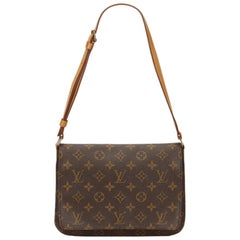 Louis Vuitton Brown Monogram Musette Tango Short Strap