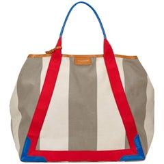 Balenciaga Muliticolor Stripe Canvas Tote bag