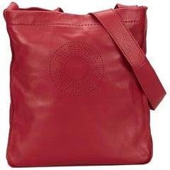 Hermes Red Clou de Selle Shoulder Bag