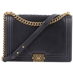 Chanel Reverso Boy Flap Bag Glazed Calfkskin Large