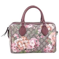Gucci Convertible Boston Bag Blooms Print GG Coated Canvas Small