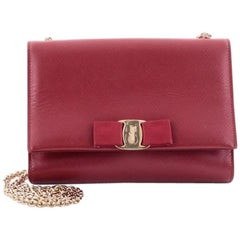 Salvatore Ferragamo Ginny Crossbody Bag Saffiano Leather Mini