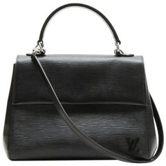 LOUIS VUITTON 'Cluny' MM Bag in Black Epi Leather
