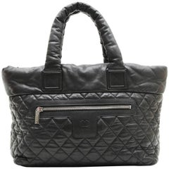 CHANEL 'Cocoon' Bag in Black Quilted Grained Leather