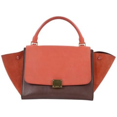 Celine Bicolor Trapeze Handbag Leather Mini