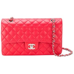 Chanel Red Quilted Leather 2.55 Shoulder Flap Bag