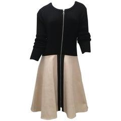 Louis Vuitton Zip-up Leather Dress
