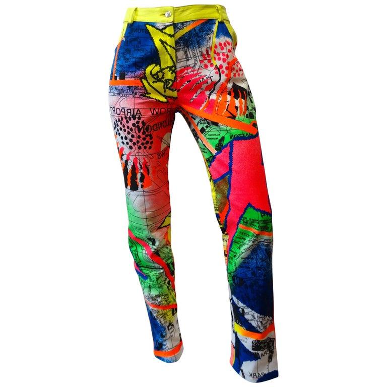 Christian Dior Neon Graffiti Pants, 1990s