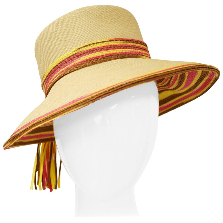 ccea2b433c1 Yves Saint Laurent Colorful Tassel Sun Hat