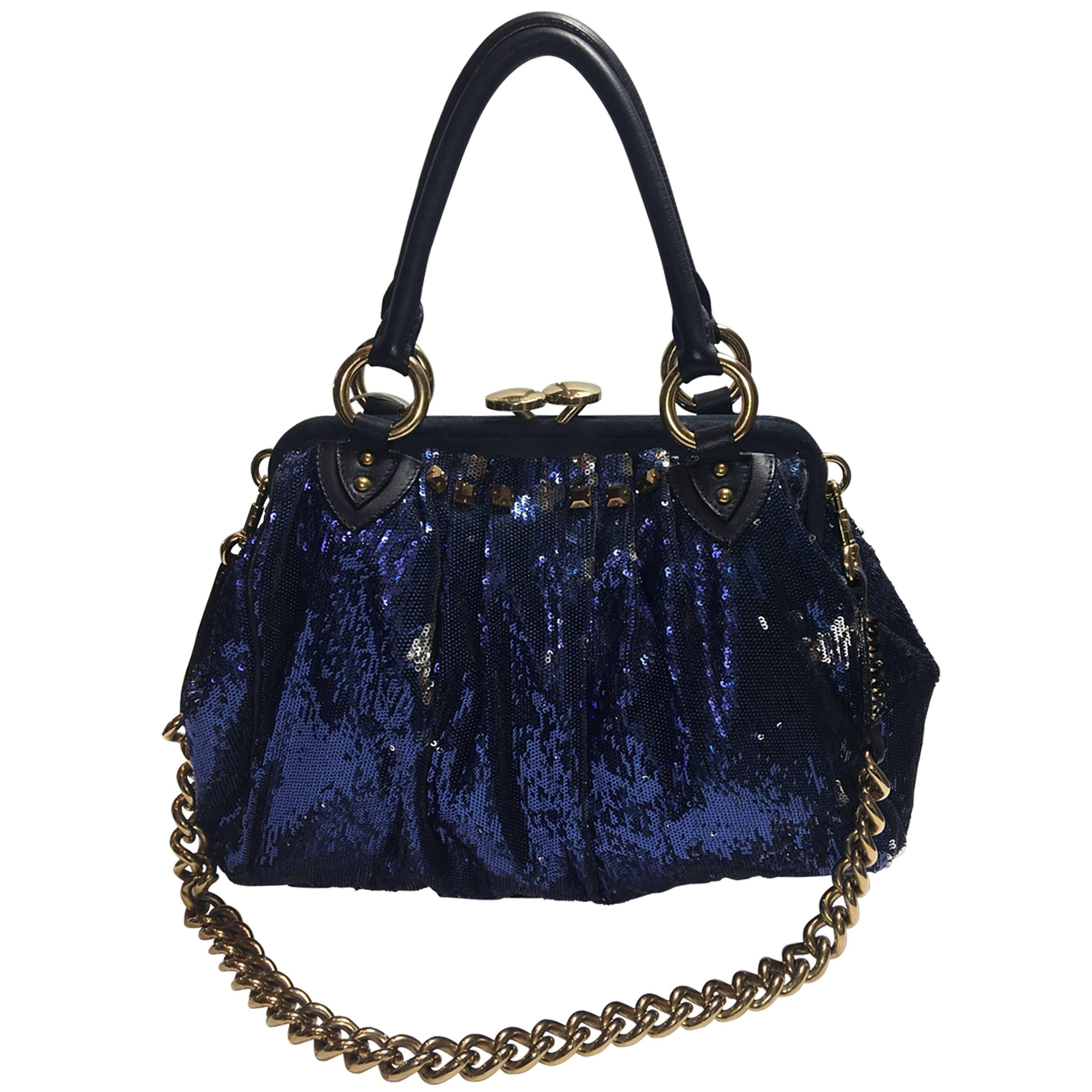 00c4cf9ad823 Marc Jacobs Black Woven Blake Handle Bag with Dust Bag For Sale at 1stdibs
