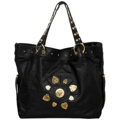 Gucci Black Leather Irina Hysteria Tote Bag
