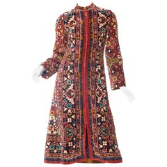 1970s Adele Simpson Carpet Coat