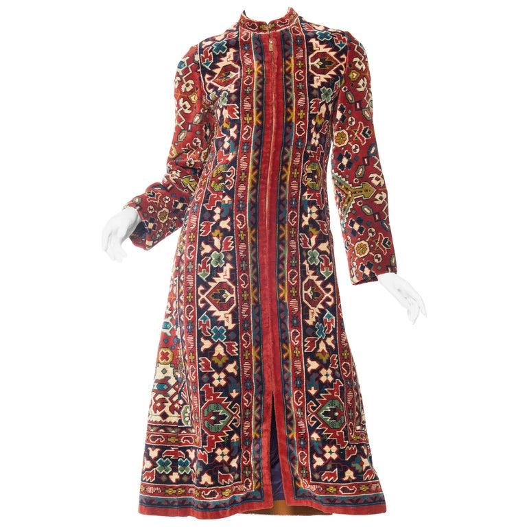 1970s Adele Simpson Carpet Coat