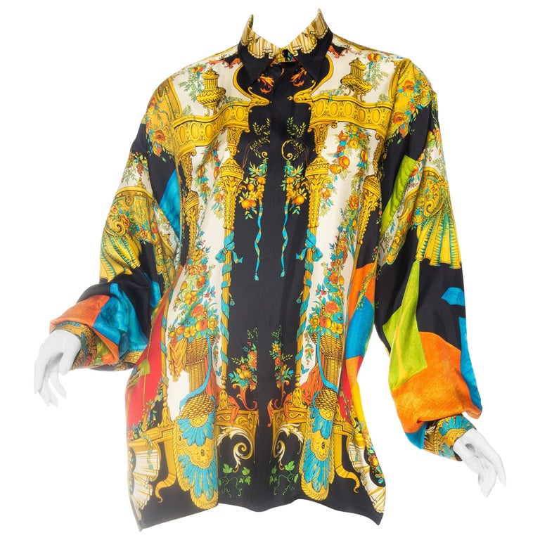 1990s atelier gianni versace baroque silk shirt at 1stdibs. Black Bedroom Furniture Sets. Home Design Ideas