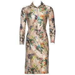 1970s Lanvin Victorian Floral Print Dress