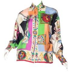 1990s Gianni Versace Atelier Silk Blouse