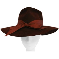 1940s Knox Brown Feminine Fedora Hat