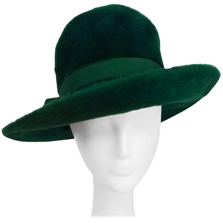 1960s Mr. John Emerald Green Fur Felt Hat