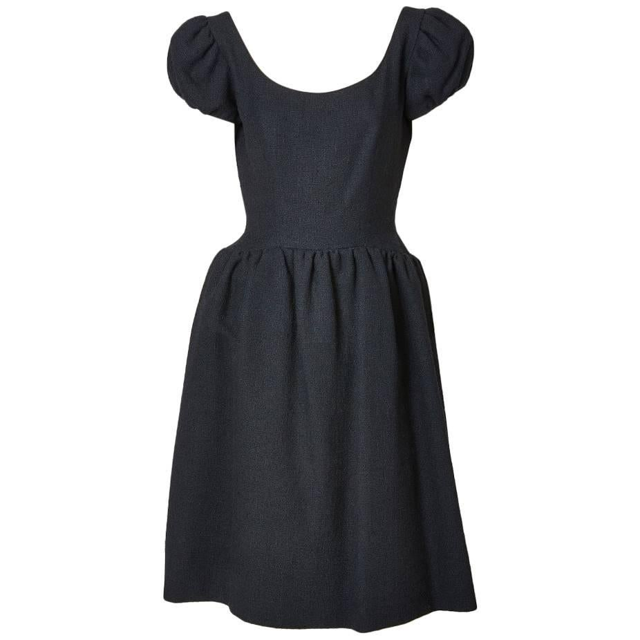 Norman Norell Wool Boucle Day Dress