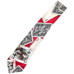 Nicole Miller Men's Playing Cards Novelty Casino Vintage Neck Tie, 1990s
