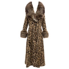Goldring's Couture Faux Leopard Coat Dramatic Fur Collar & Cuffs, Circa: 1970's