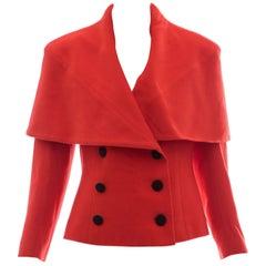 Karl Lagerfeld For Chloe Paprika Wool Shawl Collar Jacket, Circa 1980's