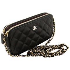 CHANEL Caviar Wallet On Chain WOC Double Zip Chain Shoulder Bag