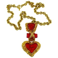 Christian Lacroix Vintage Heart Pendant Necklace