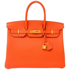 Hermès Birkin 35 Togo Feu GHW