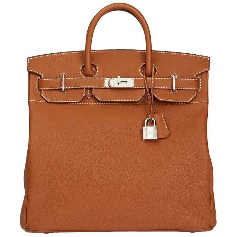 24e4a1d8e5b5 Hermes Gold Togo Leather Birkin 40cm Hac For Sale.