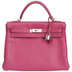 Hermes Tosca Clemence Leather Kelly 32 Retourne