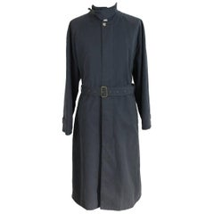 Giorgio Armani Collezioni vintage cotton gray trench coat size 50 it made italy