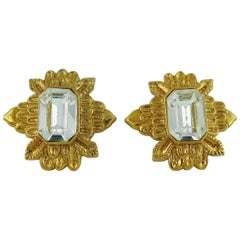Guy Laroche Vintage Jewelled Clip-On Earrings