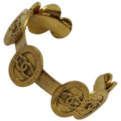 Chanel Vintage Golden Bangle Bracelet